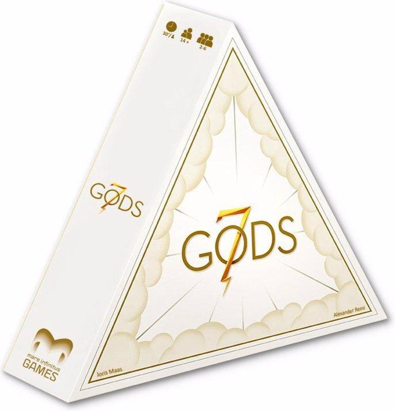 De voorkant van het boek met de titel : 7 Gods - Bordspel