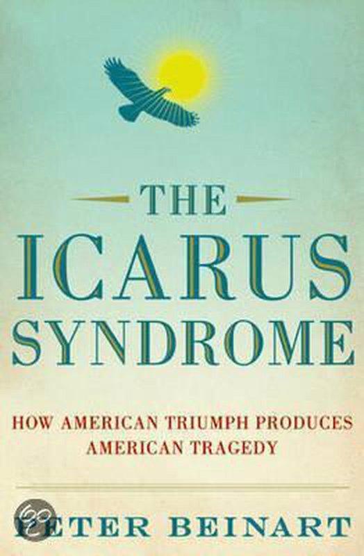 De voorkant van het boek met de titel : Icarus Syndrome