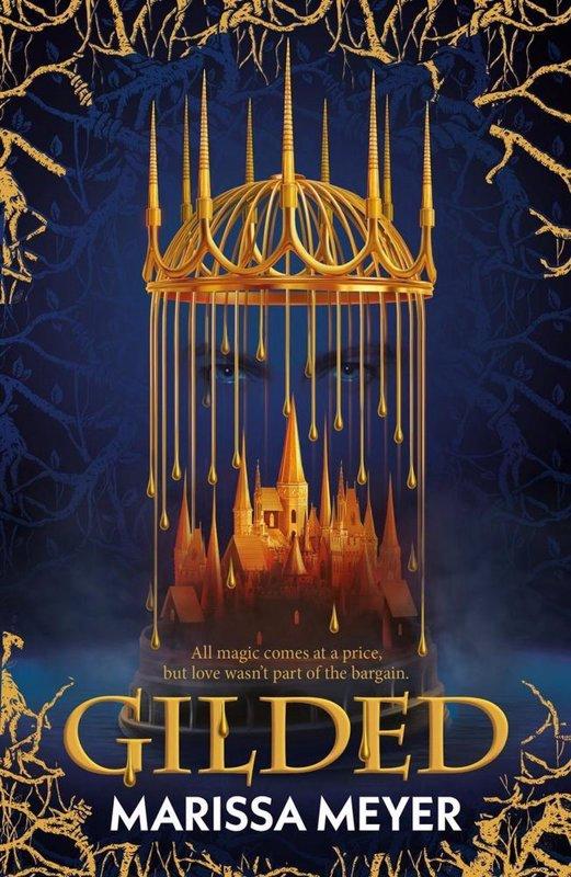 De voorkant van het boek met de titel : Gilded