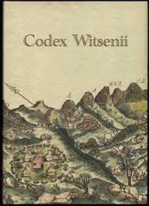De voorkant van het boek met de titel : Codex Witsenii