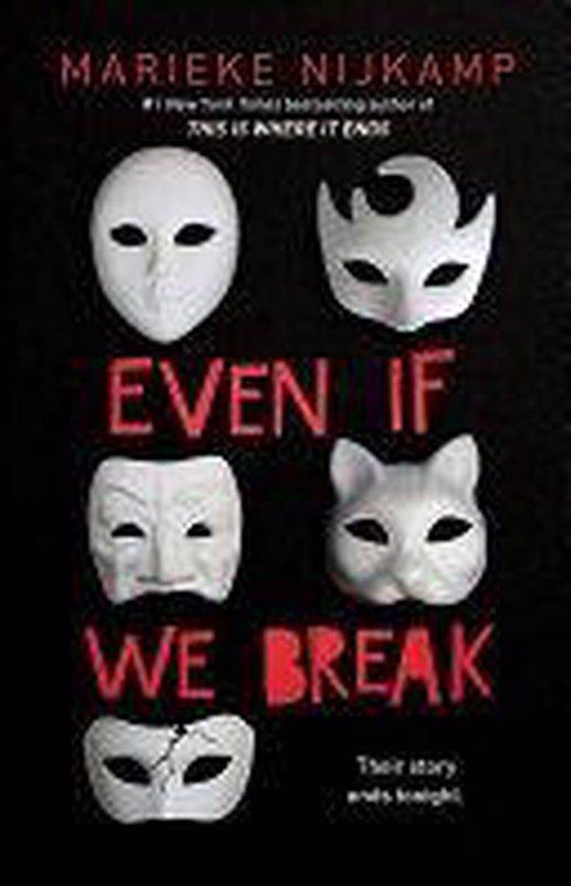 De voorkant van het boek met de titel : Even If We Break