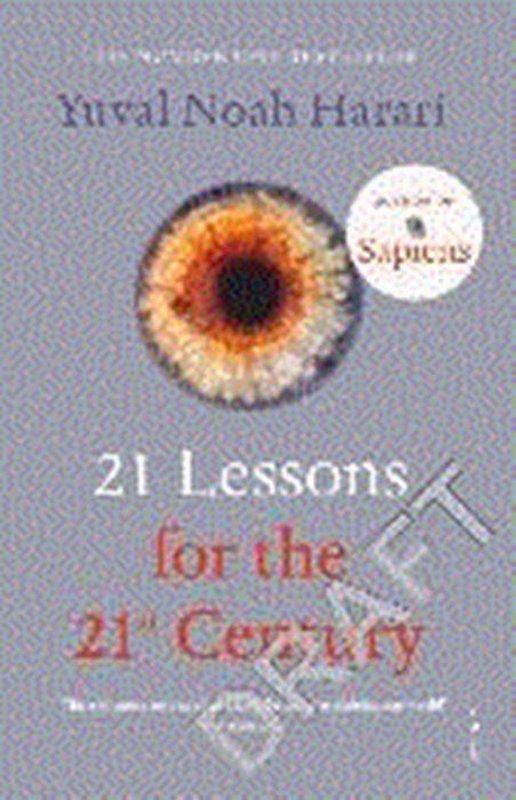 De voorkant van het boek met de titel : 21 Lessons for the 21st Century