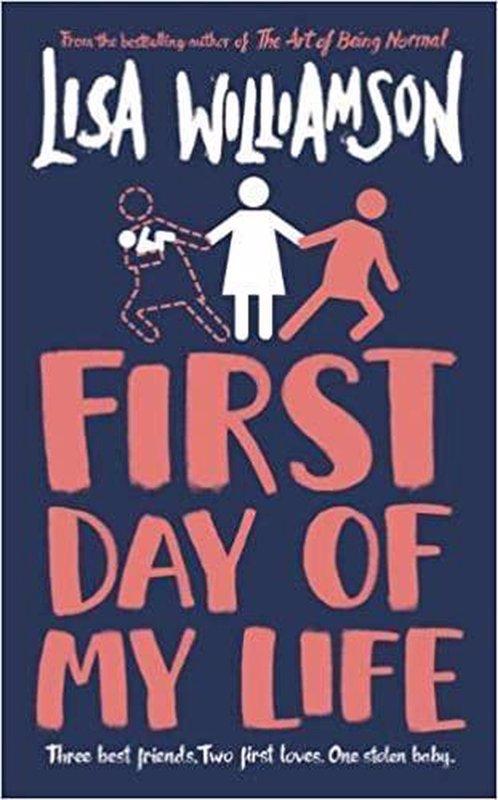 De voorkant van het boek met de titel : First Day of My Life