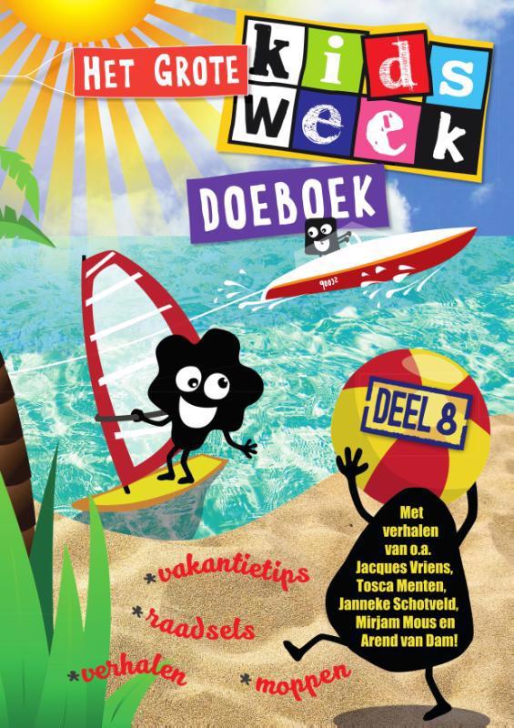 De voorkant van het boek met de titel : Het grote Kidsweek doeboek deel 8