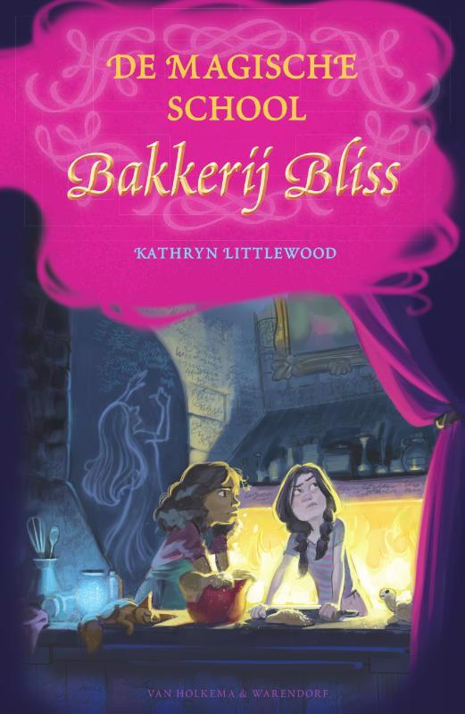 De voorkant van het boek met de titel : De magische school Bakkerij Bliss