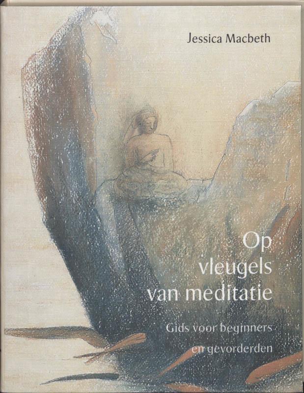 De voorkant van het boek met de titel : Op vleugels van meditatie