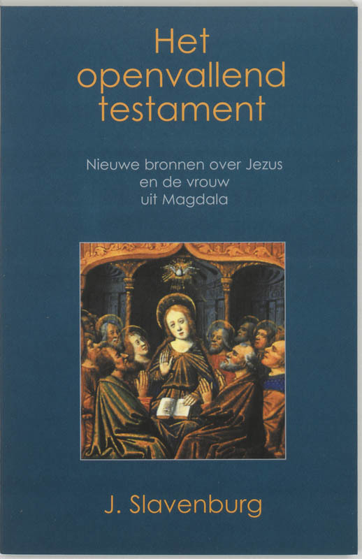 De voorkant van het boek met de titel : Het openvallend testament