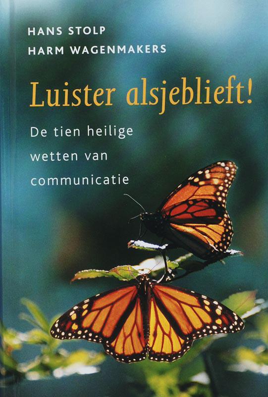 De voorkant van het boek met de titel : Luister alsjeblieft!