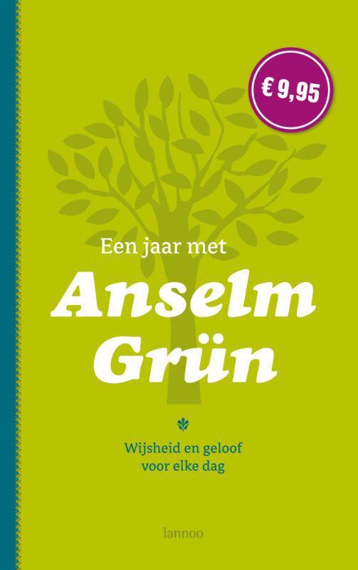 De voorkant van het boek met de titel : Een jaar met Anselm Grun