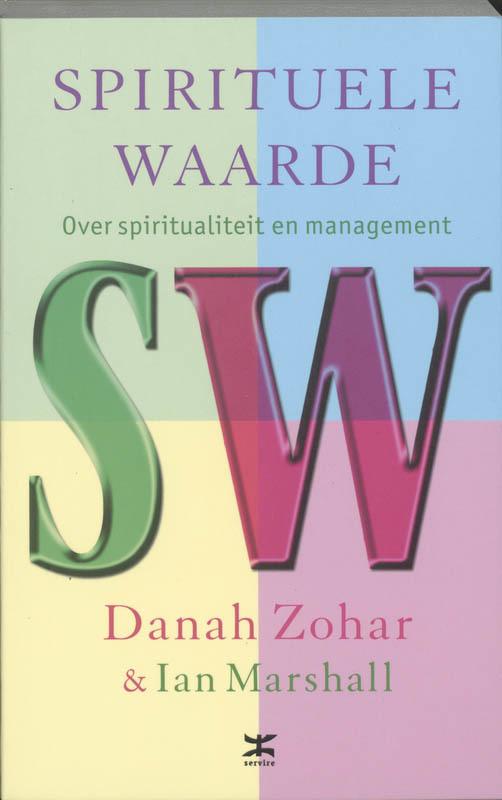 De voorkant van het boek met de titel : Spirituele waarde