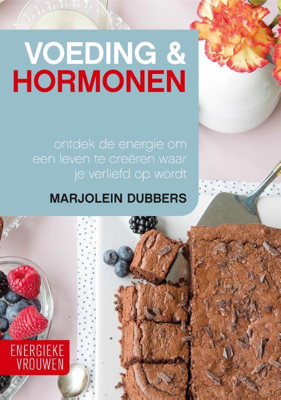 De voorkant van het boek met de titel : Voeding & Hormonen