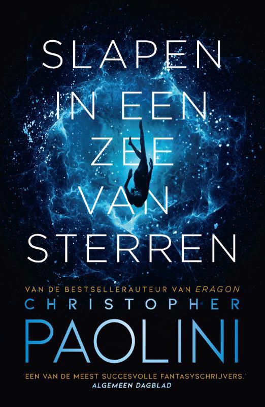De voorkant van het boek met de titel : Slapen in een zee van sterren