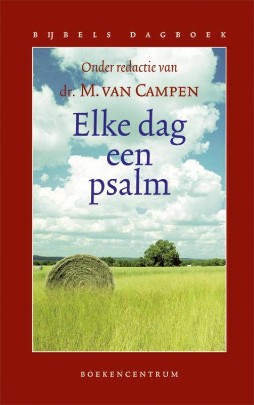 De voorkant van het boek met de titel : Elke dag een psalm