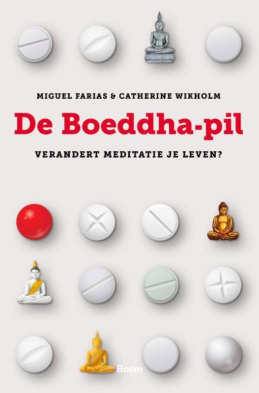 De voorkant van het boek met de titel : De Boeddha-pil