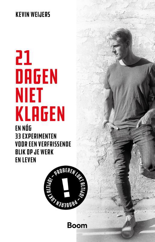 De voorkant van het boek met de titel : 21 dagen niet klagen