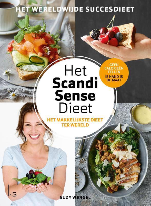 De voorkant van het boek met de titel : Het Scandi Sense dieet