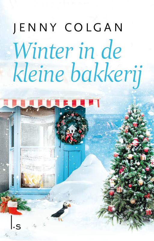 De voorkant van het boek met de titel : Winter in de kleine bakkerij