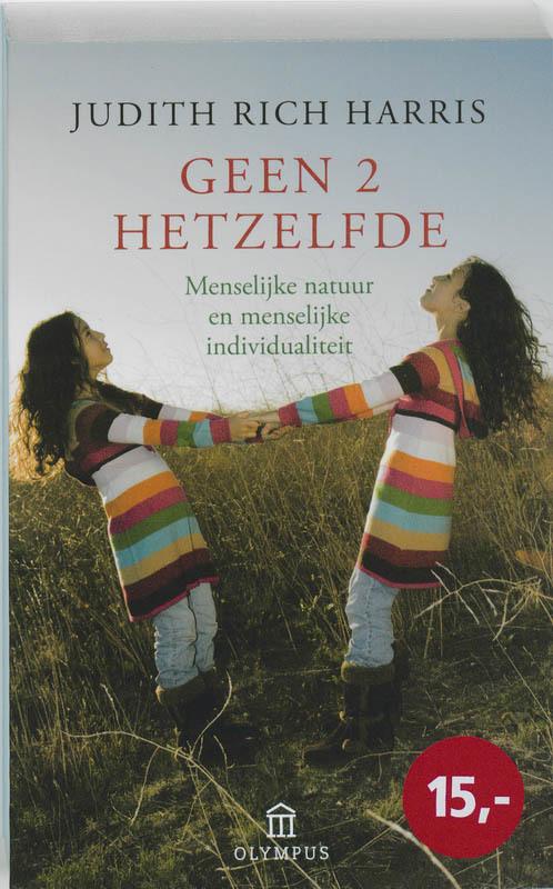 De voorkant van het boek met de titel : Geen twee hetzelfde