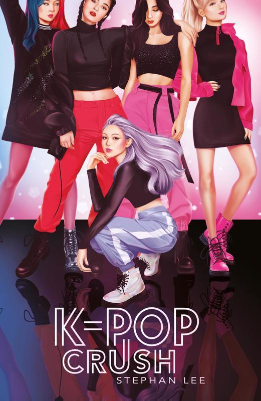 De voorkant van het boek met de titel : K-pop crush