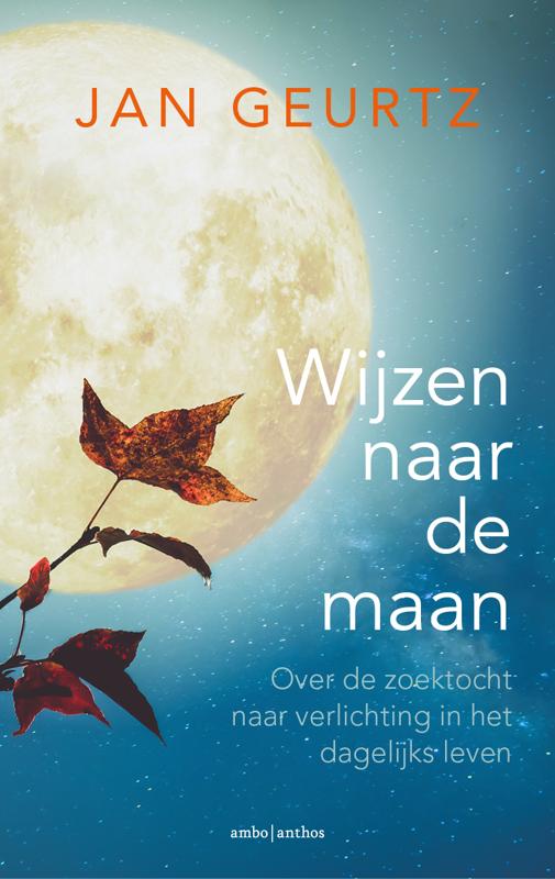 De voorkant van het boek met de titel : Wijzen naar de maan