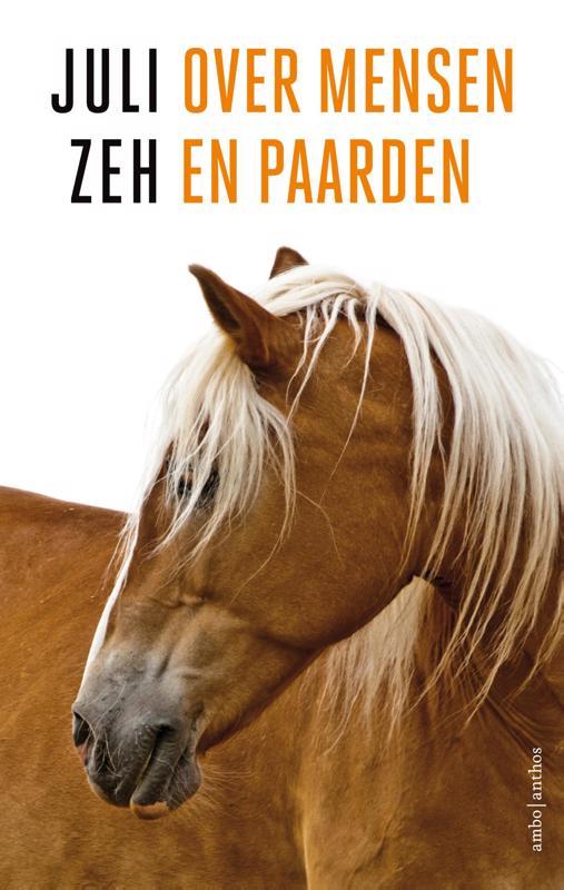 De voorkant van het boek met de titel : Over mensen en paarden