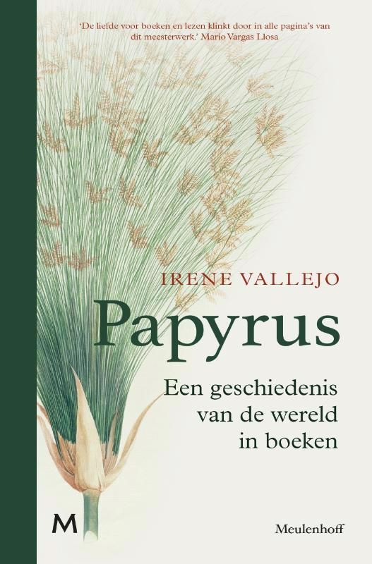 De voorkant van het boek met de titel : Papyrus