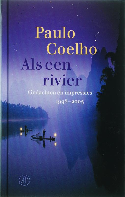 De voorkant van het boek met de titel : Als een rivier