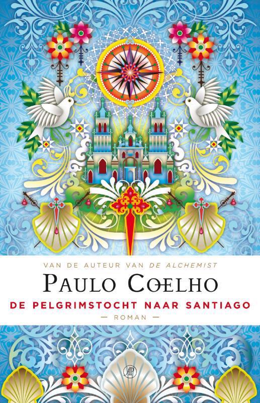 De voorkant van het boek met de titel : De pelgrimstocht naar Santiago