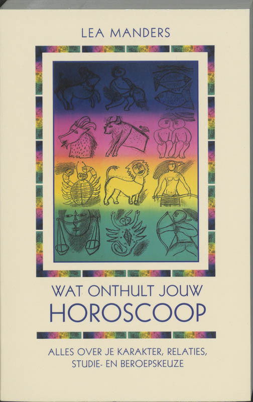 De voorkant van het boek met de titel : Wat onthult jouw horoscoop?