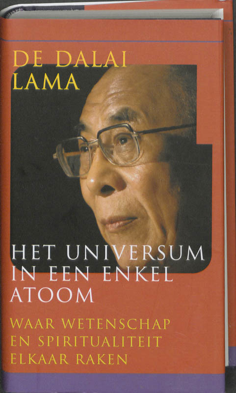 De voorkant van het boek met de titel : Het universum in een enkel atoom