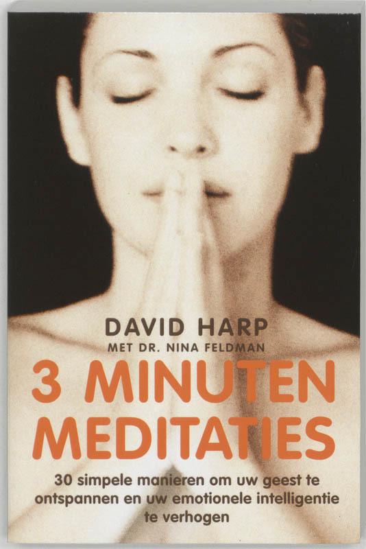 De voorkant van het boek met de titel : 3 minuten meditaties