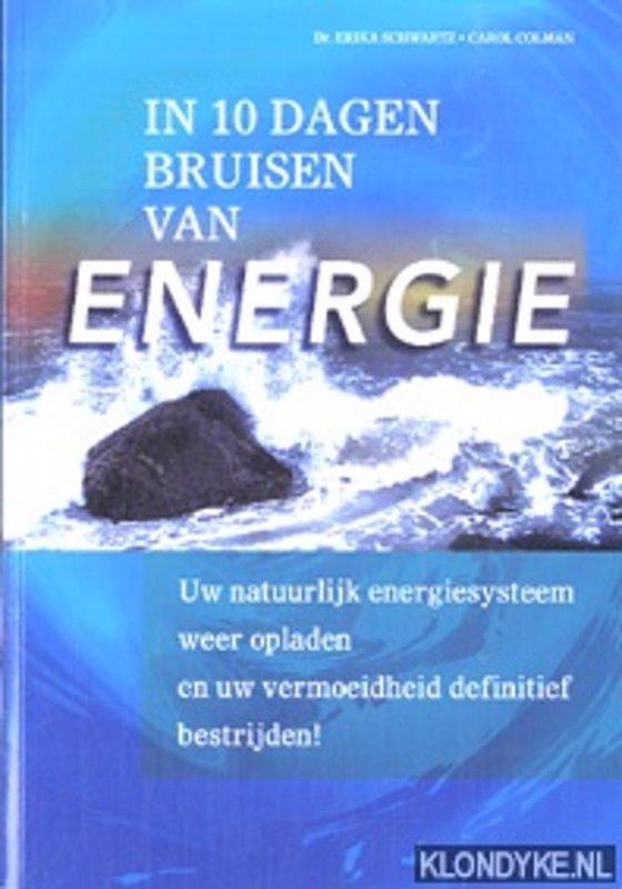 De voorkant van het boek met de titel : In 10 dagen bruisen van energie