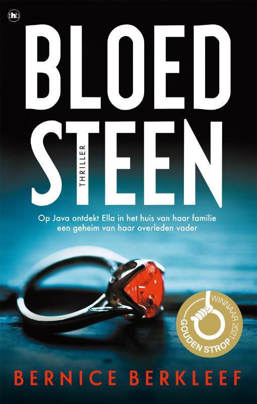 De voorkant van het boek met de titel : Bloedsteen