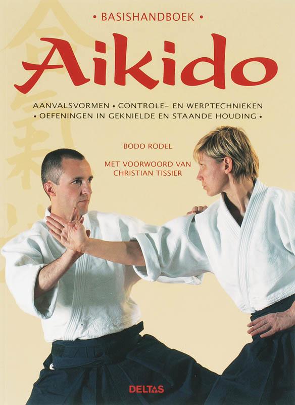 De voorkant van het boek met de titel : Handboek Aikido