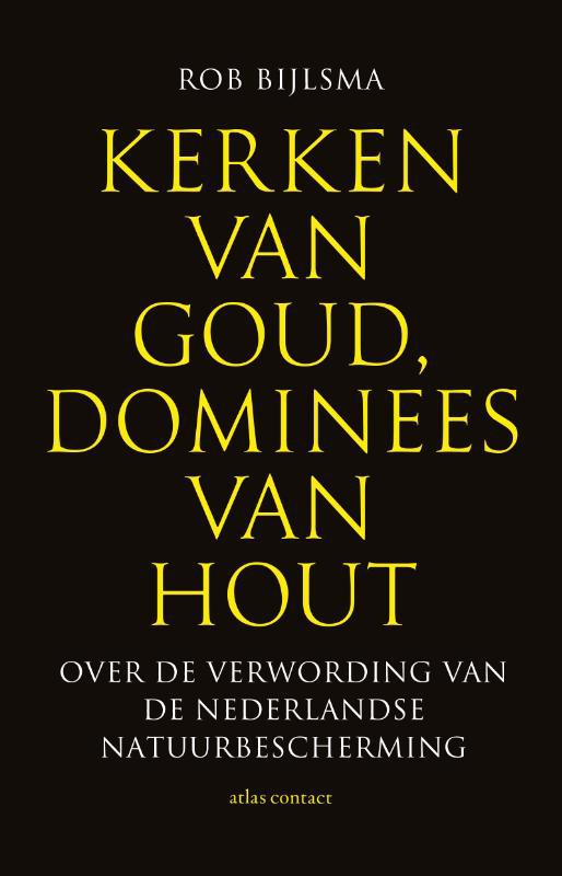 De voorkant van het boek met de titel : Kerken van goud, dominees van hout