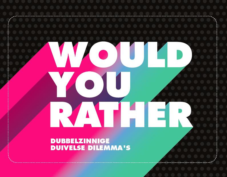 De voorkant van het boek met de titel : Would you rather