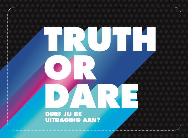 De voorkant van het boek met de titel : Truth or dare