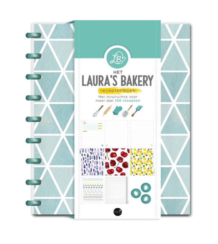 De voorkant van het boek met de titel : Het Laura's Bakery Receptenboek