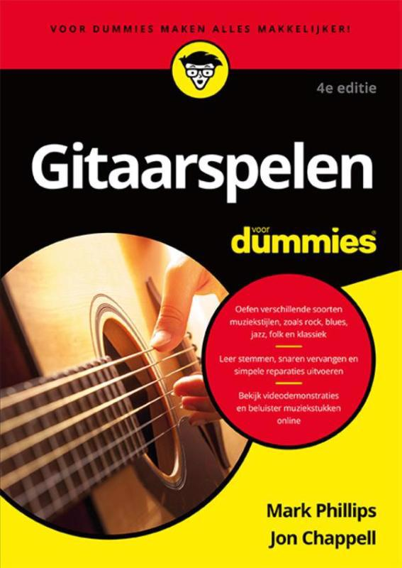 De voorkant van het boek met de titel : Gitaarspelen voor Dummies