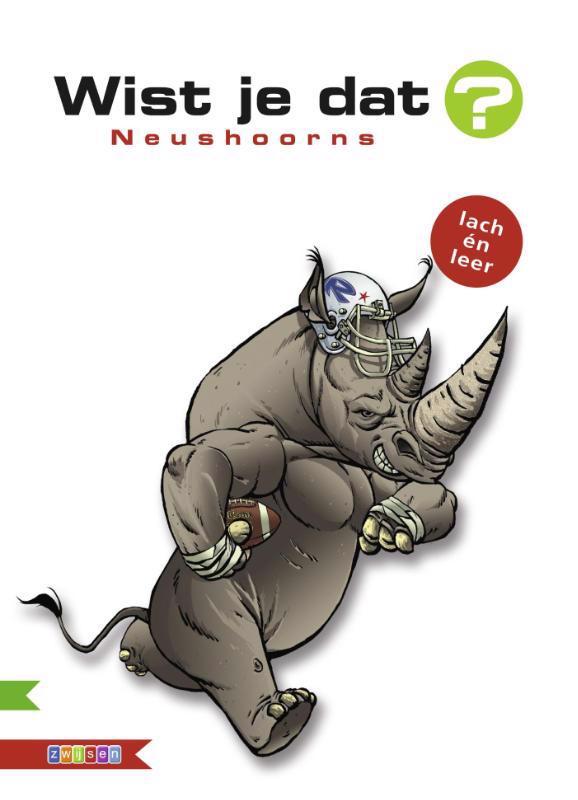 De voorkant van het boek met de titel : Neushoorns