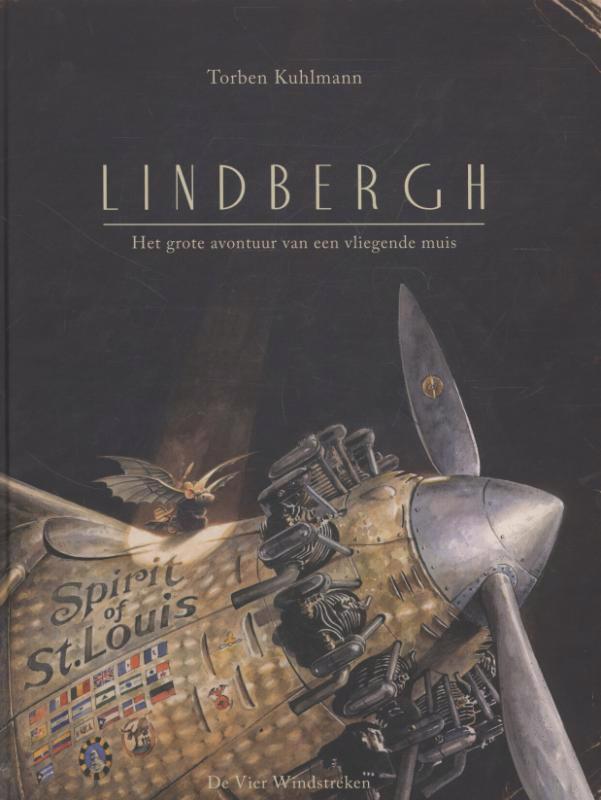 De voorkant van het boek met de titel : Lindbergh
