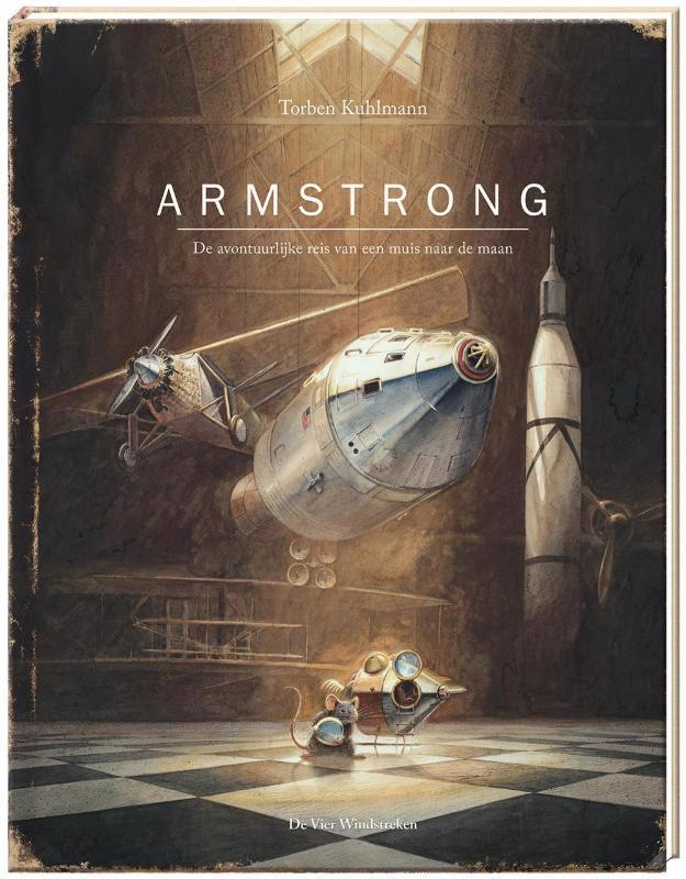 De voorkant van het boek met de titel : Armstrong