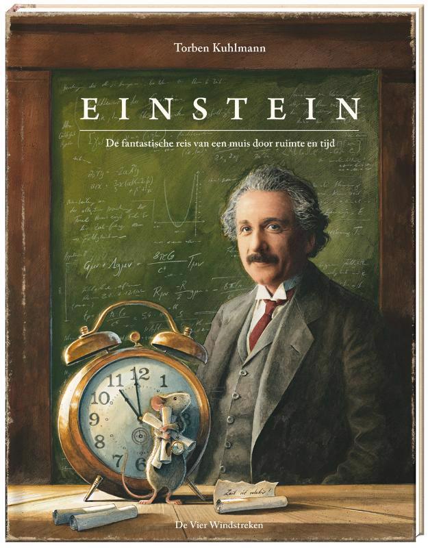 De voorkant van het boek met de titel : Einstein