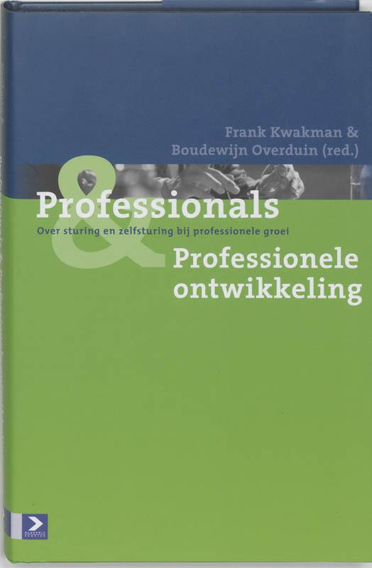 De voorkant van het boek met de titel : Professionals & Professionele ontwikkeling