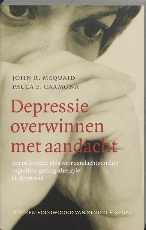 De voorkant van het boek met de titel : Depressie overwinnen met aandacht