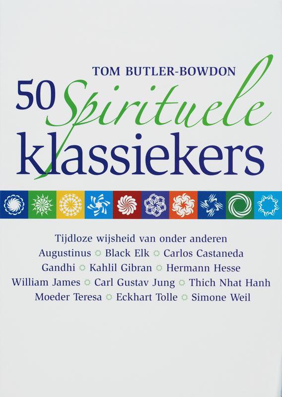 De voorkant van het boek met de titel : 50 spirituele klassiekers