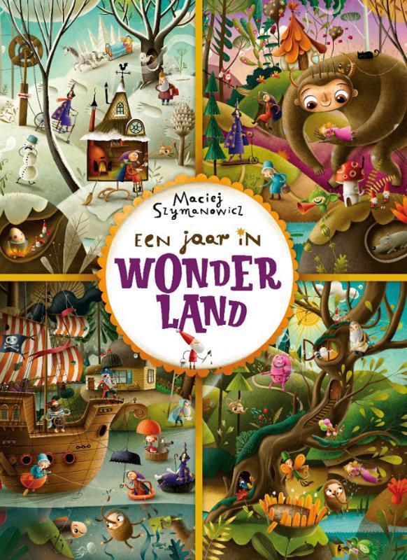 De voorkant van het boek met de titel : Een jaar in Wonderland