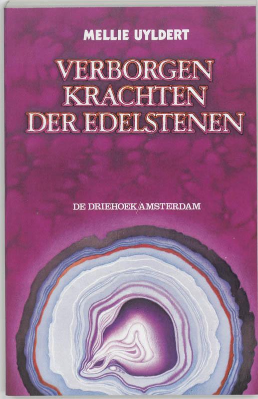 De voorkant van het boek met de titel : Verborgen krachten der edelstenen