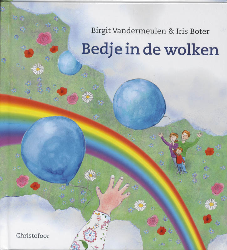 De voorkant van het boek met de titel : Bedje in de wolken