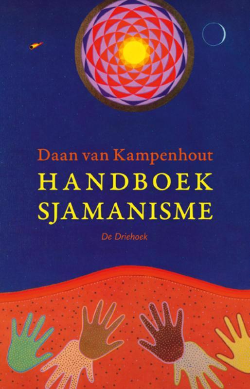 De voorkant van het boek met de titel : Handboek sjamanisme